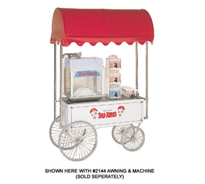 Gold Medal 2936SK Steerable Sno-Kone Wagon w/ 4-Spoke Wheels, Stainless, Whi