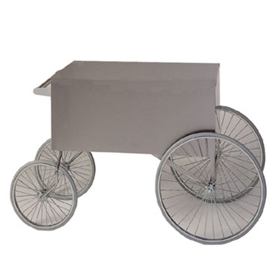Gold Medal 2936ST Steerable Wagon, Stainless,