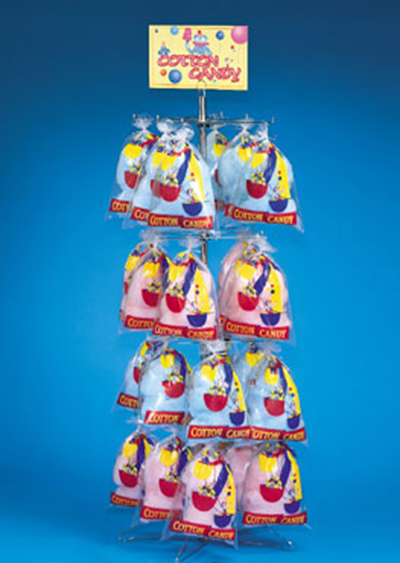 Gold Medal 3211 66-in Floss Display Tree w/ 48-Bag Capacity, Floor Model