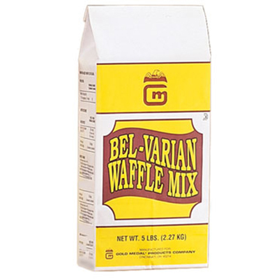 Gold Medal 5017 5-lb One-Step Bel-Varian Waffle Mix, 6/Case