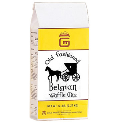 Gold Medal 5018 5-lb Old-Fashioned Belgian Waffle Mix, 6/Case