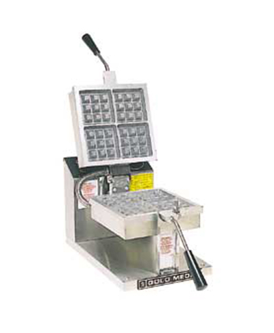 Gold Medal 5024 4-Square Belgian Waffle Baker w/ 80/Hr Capacity, Stainless