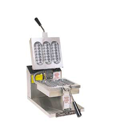 Gold Medal 5038 Waffle Boat Dish Baker w/ Hollow Upper Grid, Stainless