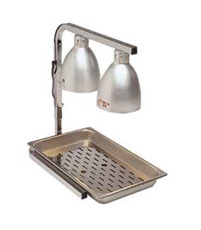 Gold Medal 5057 Warma-Serve Food Warmer w/ (2)250W-Heat Lamps