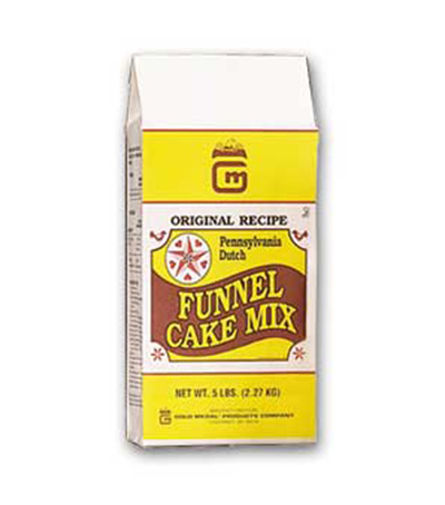 Gold Medal 5100 5-lb Original Deluxe Pennsylvania Dutch Funnel Cake Mix, 6-Bags/Case