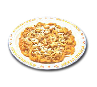 Gold Medal 5111 9-in Disposable Funnel Cake Platter w/ Printed Boarder, 500/Case