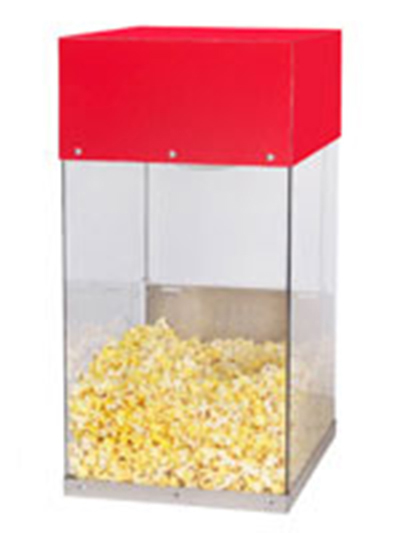 Gold Medal 5508 Popcorn Crisper w/ Single Lamp Warmer & Lexan Cabinet