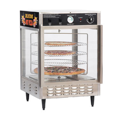 Gold Medal 5550PZ 23-in Countertop Merchandiser w/ (4) 18-in Pizza Capacity & 1-Door