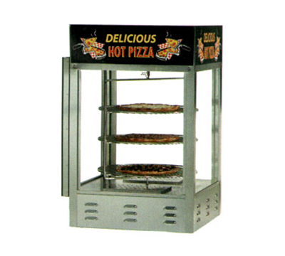 Gold Medal 5551PZ 18-in Countertop Merchandiser w/ (4) 14-in Pizza Capacity & 1-Door