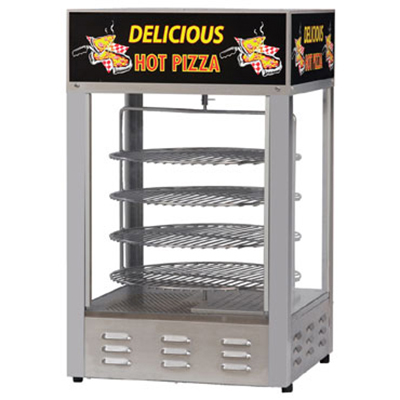 Gold Medal 5551PZL 18-in Countertop Merchandiser w/ (4) 16-in Pizza Capacity & 1-Door
