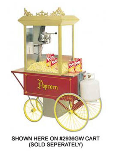 Gold Medal 5908GGT 120240 G-Whiz Popcorn Machine w/ 12-oz Kettle & LP Gas Fired, 120/240V