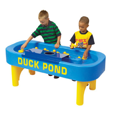 Gold Medal 7759 Deluxe Duck Pond Whiz Bang Carnival Game w/ Long Life Pumps, Blue & Yellow
