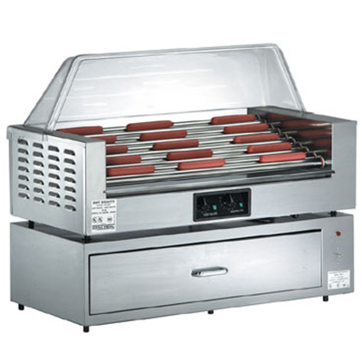Gold Medal 8025SL 45 Hot Dog Roller Grill - Slanted Top, 120v