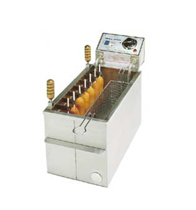 Gold Medal 8047D Small Fryer w/ 30-lb Oil Capacity & 6-Position Clip Assembly