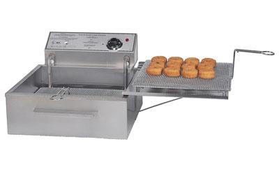 Gold Medal 8049D FW-9 Fryer w/ 20-lb Oil & 3-Funnel Cake Capacity, Drain Board & Drain 208V