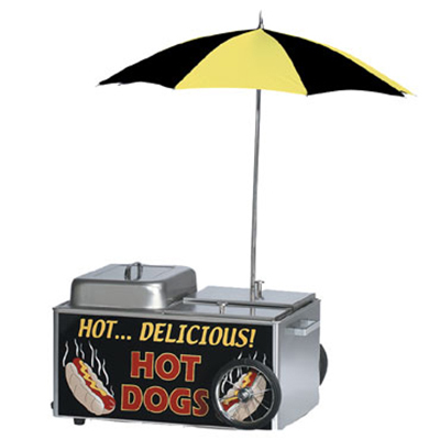 Gold Medal 8080 Table Top Steamer Cart w/ 50-Hot Dog & 35-Bun Capacity, Stainless