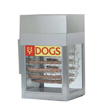 Gold Medal 8102 Dogeroo Cooker w/ 56-Hot Dog & 40-Bun Capacity, Cradle Style