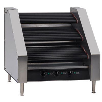 Gold Medal 8123PE 45 Hot Dog Roller Grill - Slanted Top, 120v