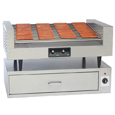 Gold Medal 8225 Hot Diggity Grill w/ 14-Rollers &am