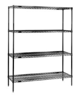 Eagle Group 1842E Wire Shelving - Antimicrobial Protection, Green Finish, 18x42