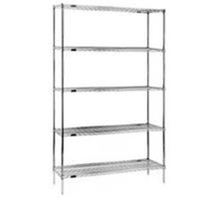 "Eagle Group 1848C Wire Shelving - QuadTruss Design, 18x48"", Chrome-Plated"
