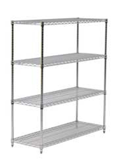 "Eagle Group 2460C Wire Shelving - QuadTruss Design, 24x60"", Chrome-Plated"