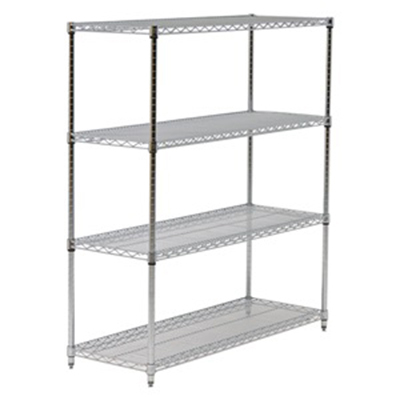 "Eagle Group 2472C Wire Shelving - QuadTruss Design, 24x72"", Chrome-Plated"