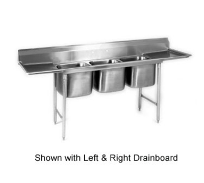 "Eagle Group 412-16-3-18-X Sink - (2) 18"" Drainboard, 9.5"" Splash, (3) 20x16x10.5"" Bowl"