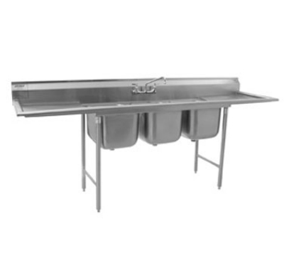 "Eagle Group 414-16-3-18-X Sink - (3) 18"" Drainboard, 9.5"" Splash, (3) 19x16x14"" Bowl"