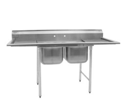 "Eagle Group 414-18-2-18-X Sink - (2) 18"" Drainboard, 9.5"" Splash, (2) 24x18x14"" Bowl"
