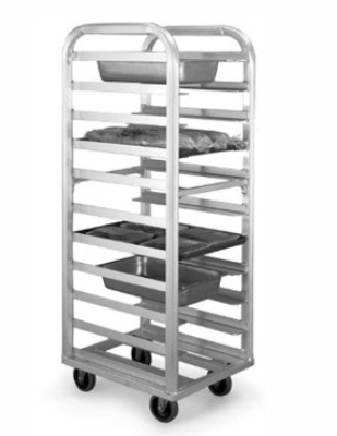 "Eagle Group 4337-X Roll-In Refrigerator Universal Pan Rack - 5"" Centers, Aluminum"