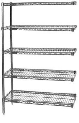 "Eagle Group A4-63-1848VG Shelving Unit - (4) 18x48"" Shelves & 63"" Posts, Green"