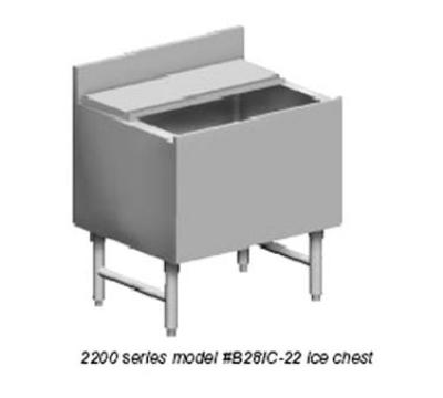 "Eagle Group B30IC-18-X 1800-Series Ice Chest Unit - 30x20x8"" Bin"