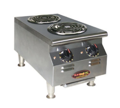 Eagle Group CLCW-120-2-X Countertop Hotplate - (1) 1100W Cooking & (1) 525W Warming Burner, Infinite, 120v