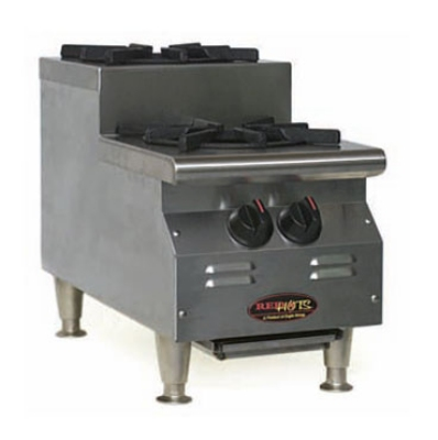 "Eagle Group CLUHP-2-NG-X 12"" Countertop Step-Up Hotplate - (2) Burner, Manual, NG"