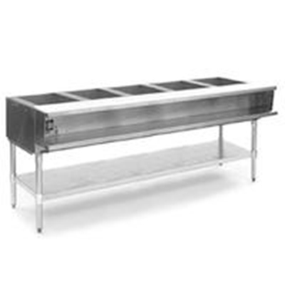 "Eagle Group DHT5-208-1X 79"" Hot Food Table - 5-Wells, Infinite, Cutting Board, Undershelf, 120v"