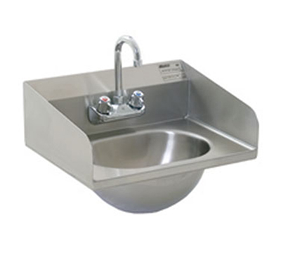 "Eagle Group HSA-10-F-LRS-1X Wall-Mount Hand Sink - Gooseneck Spout, 14.75x18.87"", Stainless"