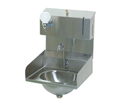 "Eagle Group HSA-10-FDPE-LRS Wall-Mount Hand Sink - Gooseneck Spout, 14.75x19.25x28.25"", Stainless"
