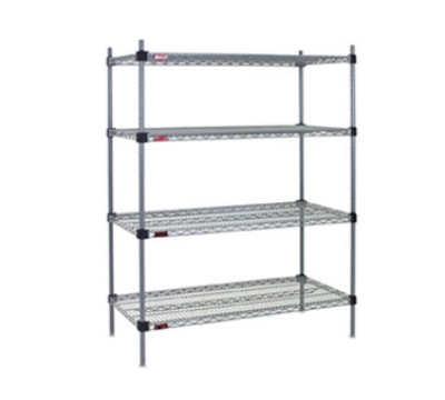 "Eagle Group QA1448VG 48x14"" Wire Shelf - Interlocking Corners, Green Epo"