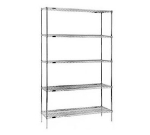 "Eagle Group S5-86-1848Z Wire Shelving Starter Unit - (5) 18x48"" Shelf, 86"" Post, Zinc"