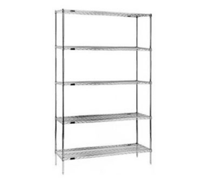 "Eagle Group S5-74-1830E Wire Shelving Starter Unit - (5) 18x30"" Shelf, 74"" Post, Mic"