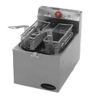 Countertop Fryer - Single Pot, 15-lb Fat Capacity, Thermostatic, 208v