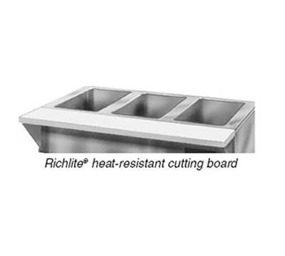 "Eagle Group RLB-3 48x8"" Heat-Resistant Cutting Board - Stainless Brackets"