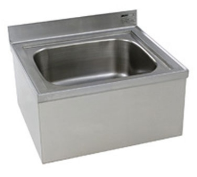 "Eagle Group F1916-X 21.5x24-5/8"" Floor Mount Stainless Mop Sink - 8"" Water Level"