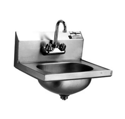 Eagle Group HSA-10-F-1X Wall Mount Hand Sink - Splash Mount Gooseneck Faucet, 14.75x18-7/8