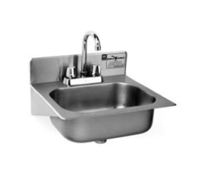 Eagle Group HSAE-10-FA-1X Wall Hand Sink - Deck Mount Faucet, 15x16.75x9