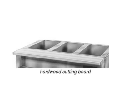 "Eagle Group WB-HT3 1.25"" Thick Hardwood Cutting Board - Stationary Brackets, 48x8"