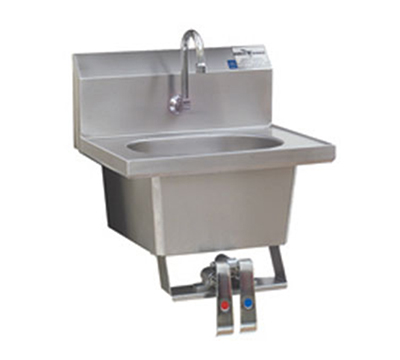 "Eagle Group HSA-10-FK-X Wall-Mount Hand Sink - Gooseneck Spout, 14.75x18.87x17.5"", Stainless"
