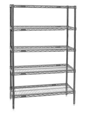 "Eagle Group 1836C74-5 Wire Shelving Unit - (5) 18x36"" Shelves & (4"