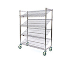 "Eagle Group M1860V-4 Visual Merchandising Cart - (4) 18x60"" Shelves, Pewter Gray Epoxy Finish"